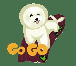 DOGGY KUMA HAPPY LIFE!!!! sticker #11893331