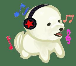DOGGY KUMA HAPPY LIFE!!!! sticker #11893335