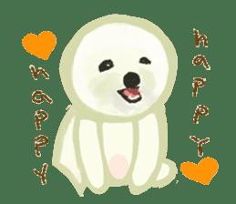 DOGGY KUMA HAPPY LIFE!!!! sticker #11893336