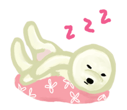 DOGGY KUMA HAPPY LIFE!!!! sticker #11893337