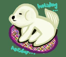 DOGGY KUMA HAPPY LIFE!!!! sticker #11893346