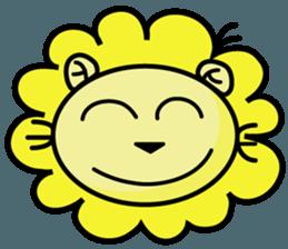 BEN LION LOVE YOU FACE STICKER sticker #12410742