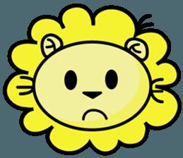 BEN LION LOVE YOU FACE STICKER sticker #12410744