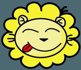 BEN LION LOVE YOU FACE STICKER sticker #12410745