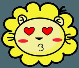 BEN LION LOVE YOU FACE STICKER sticker #12410746