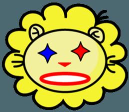 BEN LION LOVE YOU FACE STICKER sticker #12410747