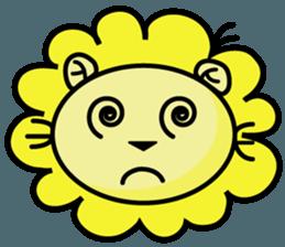 BEN LION LOVE YOU FACE STICKER sticker #12410749