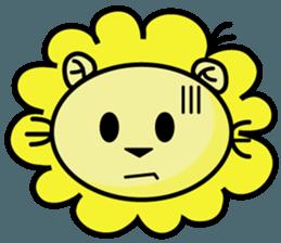 BEN LION LOVE YOU FACE STICKER sticker #12410750