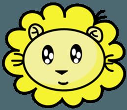BEN LION LOVE YOU FACE STICKER sticker #12410751