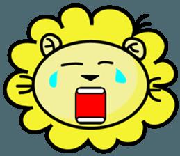 BEN LION LOVE YOU FACE STICKER sticker #12410752