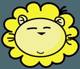 BEN LION LOVE YOU FACE STICKER sticker #12410753