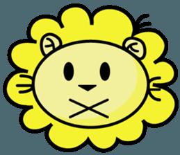 BEN LION LOVE YOU FACE STICKER sticker #12410754