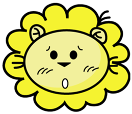 BEN LION LOVE YOU FACE STICKER sticker #12410756