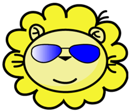 BEN LION LOVE YOU FACE STICKER sticker #12410757