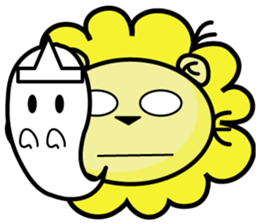 BEN LION LOVE YOU FACE STICKER sticker #12410759