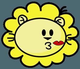 BEN LION LOVE YOU FACE STICKER sticker #12410761