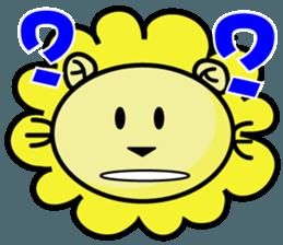 BEN LION LOVE YOU FACE STICKER sticker #12410764