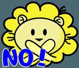 BEN LION LOVE YOU FACE STICKER sticker #12410766