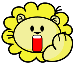 BEN LION LOVE YOU FACE STICKER sticker #12410768