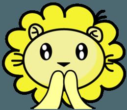 BEN LION LOVE YOU FACE STICKER sticker #12410769