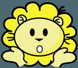 BEN LION LOVE YOU FACE STICKER sticker #12410770