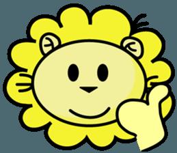 BEN LION LOVE YOU FACE STICKER sticker #12410772