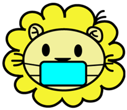 BEN LION LOVE YOU FACE STICKER sticker #12410773