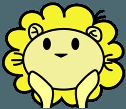 BEN LION LOVE YOU FACE STICKER sticker #12410774