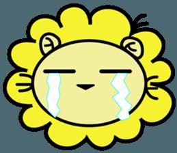 BEN LION LOVE YOU FACE STICKER sticker #12410777