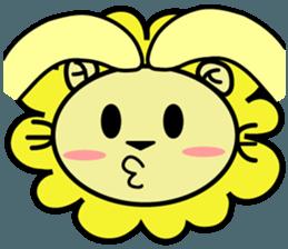 BEN LION LOVE YOU FACE STICKER sticker #12410779