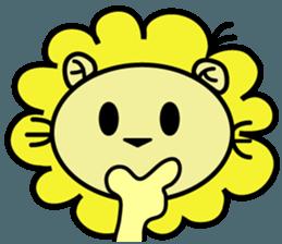 BEN LION LOVE YOU FACE STICKER sticker #12410780
