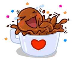 Coffee baby sticker #12682483