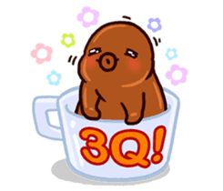 Coffee baby sticker #12682489