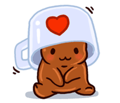 Coffee baby sticker #12682496