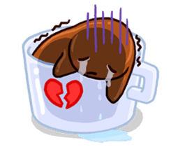 Coffee baby sticker #12682497