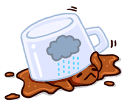Coffee baby sticker #12682505