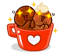 Coffee baby sticker #12682508