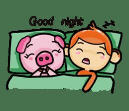 Monkey and Pig Nori AiKa 2 sticker #13008005