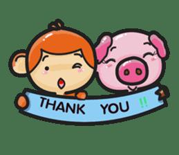 Monkey and Pig Nori AiKa 2 sticker #13008010