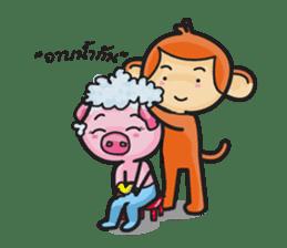 Monkey and Pig Nori AiKa 2 sticker #13008012