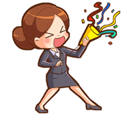 Amazing working woman sticker #13226516