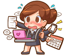 Amazing working woman sticker #13226532
