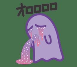 purple ghost. sticker #13718692