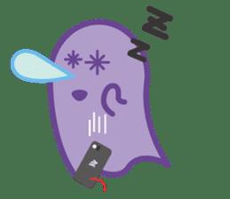 purple ghost. sticker #13718708