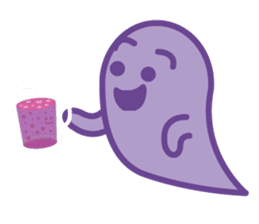 purple ghost. sticker #13718712