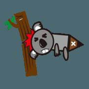 สติ๊กเกอร์ไลน์ abnormal Koala - Yan Bi