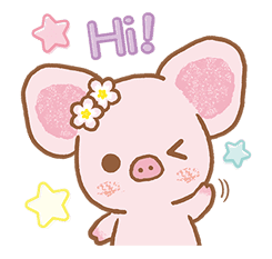 Piggy girl's Pinkish Days sticker #69894