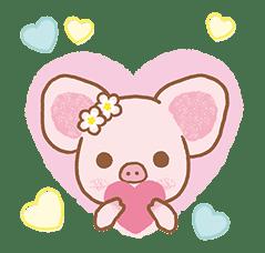 Piggy girl's Pinkish Days sticker #69895
