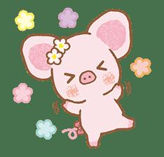 Piggy girl's Pinkish Days sticker #69897