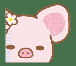 Piggy girl's Pinkish Days sticker #69902